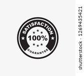 100  satisfaction guarantee...   Shutterstock .eps vector #1269435421