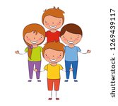 boys and girl friends together | Shutterstock .eps vector #1269439117
