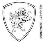vintage lion on shield. eps 8...