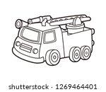 black and white line art ...   Shutterstock .eps vector #1269464401