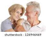 old couple relaxing at home on... | Shutterstock . vector #126946469