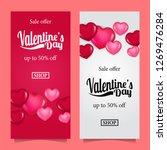 valentine's day romance sale... | Shutterstock .eps vector #1269476284