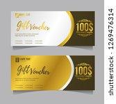 gift voucher banner card coupon ... | Shutterstock .eps vector #1269476314