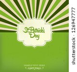 saint patricks day design | Shutterstock .eps vector #126947777