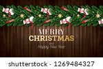 christmas greeting card with... | Shutterstock . vector #1269484327