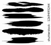 design elements of black...   Shutterstock . vector #1269495244