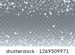 vector snow background. winter... | Shutterstock .eps vector #1269509971