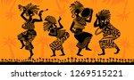 dance of the papuans. dancing... | Shutterstock .eps vector #1269515221