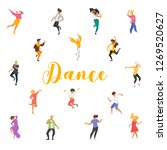 dance poster with dancing... | Shutterstock .eps vector #1269520627