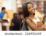beautiful female african... | Shutterstock . vector #126952145