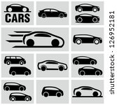 car icons | Shutterstock .eps vector #126952181