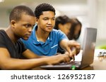 african college students using... | Shutterstock . vector #126952187