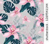 seamless pattern with flowers... | Shutterstock .eps vector #1269541144
