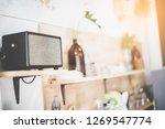 close up loudspeaker at cafe... | Shutterstock . vector #1269547774