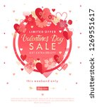 valentines day special offer... | Shutterstock .eps vector #1269551617