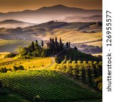 tuscany  italy   landscape | Shutterstock . vector #126955577