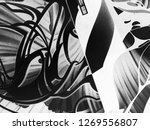 abstract black and white waves  ... | Shutterstock . vector #1269556807