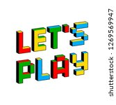 let's play text in style of old ... | Shutterstock .eps vector #1269569947