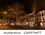 the gouda market in the evening ... | Shutterstock . vector #1269574477
