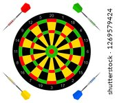 vector icon with darts for your ... | Shutterstock .eps vector #1269579424
