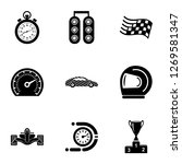 racing icons set. simple set of ...   Shutterstock . vector #1269581347