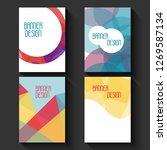 geometric business templates... | Shutterstock . vector #1269587134