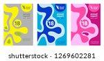 annual report cover design  set ... | Shutterstock .eps vector #1269602281