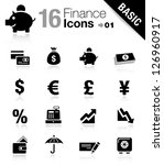 basic    finance icons | Shutterstock .eps vector #126960917