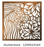 laser cutting square panel.... | Shutterstock .eps vector #1269614164