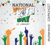 national youth day is... | Shutterstock .eps vector #1269614227