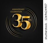 35 anniversary gold with a... | Shutterstock .eps vector #1269624907