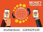 transfer money using a mobile...   Shutterstock .eps vector #1269629134