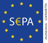 sepa   single euro payments... | Shutterstock .eps vector #1269648754