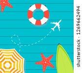 summer time vector banner... | Shutterstock .eps vector #1269662494