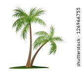 vector illustration of two palm ... | Shutterstock .eps vector #126966755