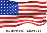 3d usa flag | Shutterstock . vector #12696718