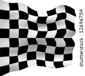 3d checkered flag | Shutterstock . vector #12696754