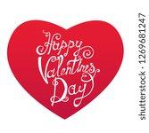 valentine's day  heart ... | Shutterstock .eps vector #1269681247