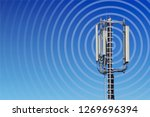 Transmission Tower With Radio...