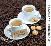 label with german text  coffee... | Shutterstock . vector #126969989