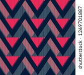 red zigzag seamless pattern | Shutterstock . vector #1269701887