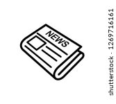 newspaper icon vector template   Shutterstock .eps vector #1269716161
