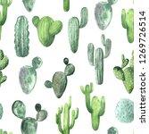 seamless pattern wit watercolor ...   Shutterstock . vector #1269726514