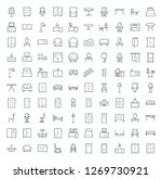 outline icons set of furniture | Shutterstock .eps vector #1269730921