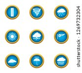 atmospheric condition icons set....   Shutterstock . vector #1269732304
