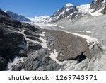 the corbassiere glacier is a...   Shutterstock . vector #1269743971