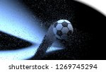 soccer ball with water spiral... | Shutterstock . vector #1269745294