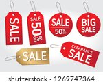 set of sale tags. big sale  ... | Shutterstock .eps vector #1269747364