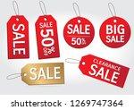 set of sale tags. big sale  ... | Shutterstock .eps vector #1269747364