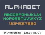modern font and alphabet | Shutterstock . vector #1269748777